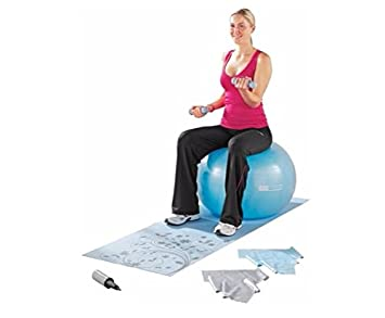 ProFitness Yoga y Pilates Set. Yoga Mat, 2 Bandas de Pilates, 65 cm
