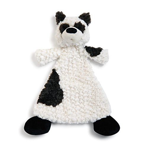 Palmer Panda Black Spot Children's Plush Rattle Blankie]()