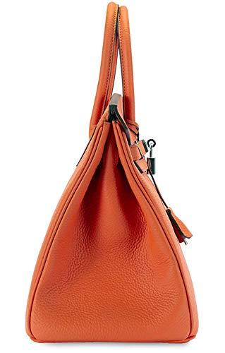 Women's Handbags Ladies Genuine Leather Handle Shoulder Handbags Strap Organizer Crossbody Handbags with Gold Hardware by GAOAG (Image #3)