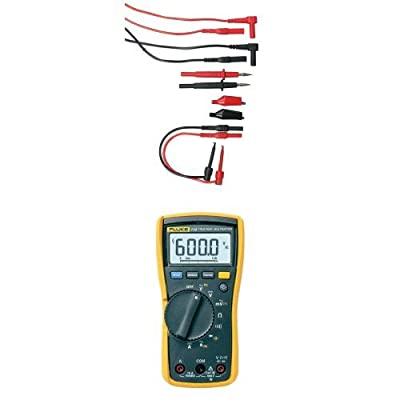 Extech TL809 Electronic Test Lead Kit with Fluke 115 Compact True-RMS Digital Multimeter