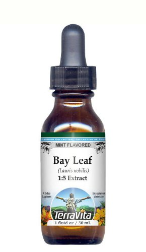 Bay Leaf - Glycerite Liquid Extract (1:5) - Mint Flavored (1 fl oz, ZIN: 428563)