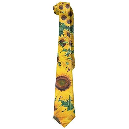 Chrysanthemum Leisure Skinny Necktie Ties Novelty Necktie Silk