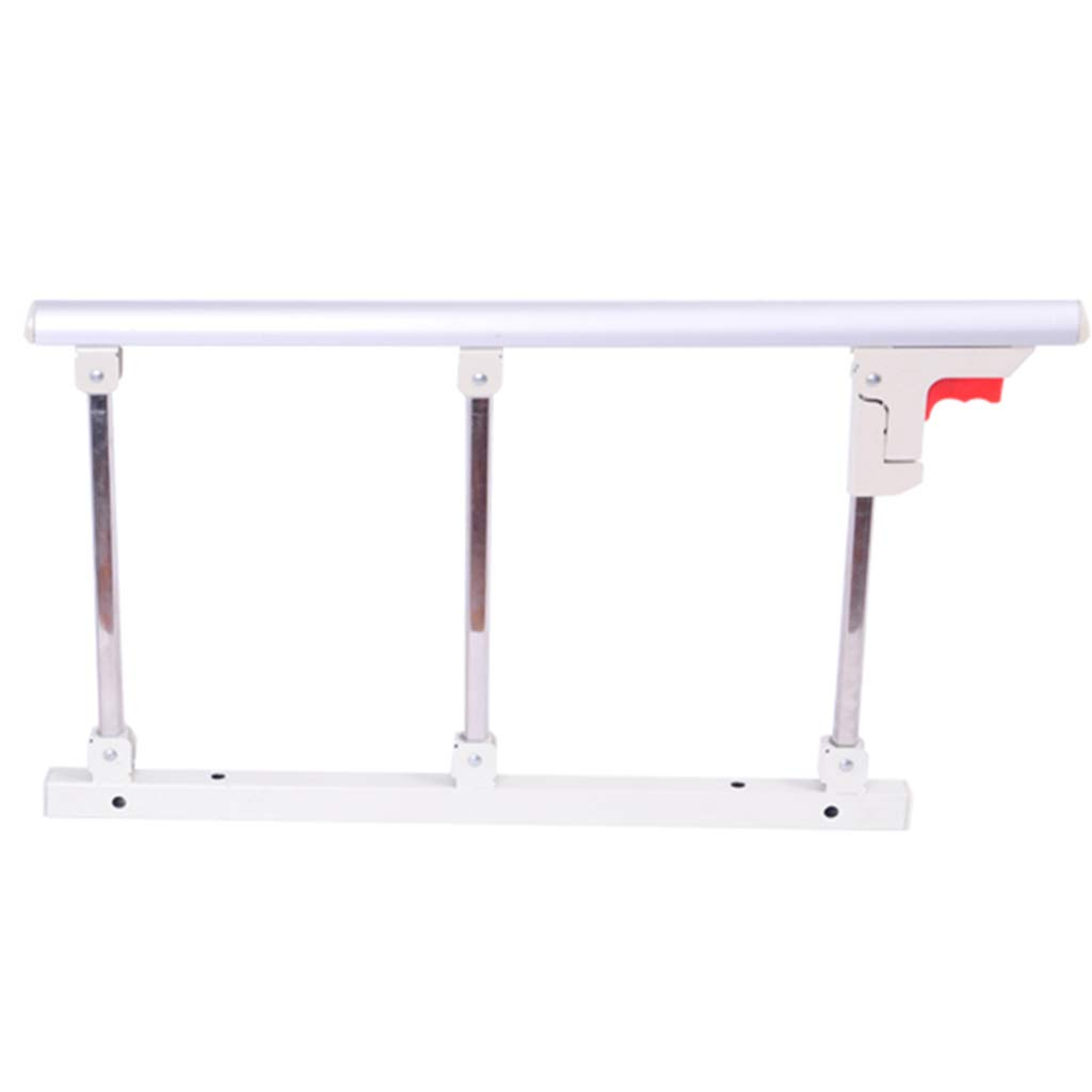 Foldable Bed Rail Safety Side Guard For Elderly, Adults Assist Handle Handicap Bed Railing Hospital Metal Grip Bumper Bar qiangzi