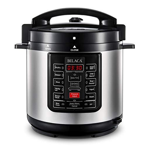BILACA Pressure Cooker 6 Quart 9-in-1 Multi-Use Programmable