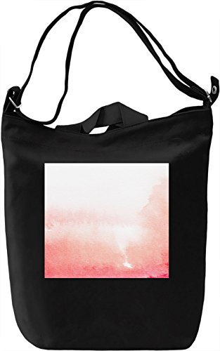 Red Water Color Full Print Borsa Giornaliera Canvas Canvas Day Bag| 100% Premium Cotton Canvas| DTG Printing|