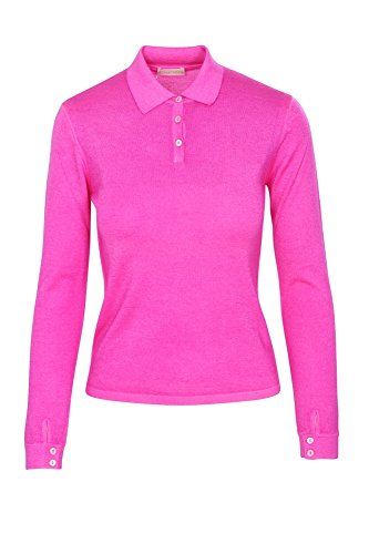Cruciani Cachemira Fit Slim Poloshirt 40 It Casual Rosado Polo Mujer nrqfw1gYra