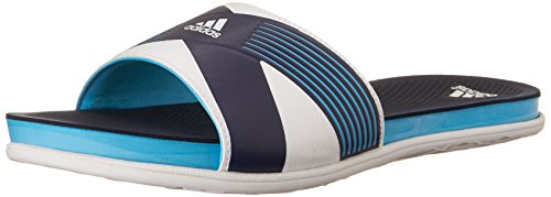 adidas Performance Women's Supercloud Plus Slide W Athletic Sandal,Bright Cyan Blue/White/Collegiate Navy,6 M US