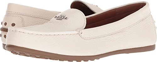 Coach Women's Lock up Driver Chalk Leather 11 M US