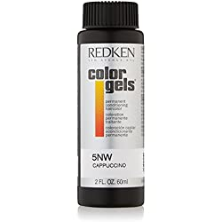 Redken Color Gels Permanent Conditioning Hair Color for Unisex, 5NW Cappuccino, 2 Ounce