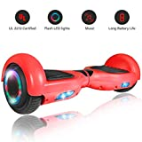 ROCKETX Hoverboard with Bluetooth Speaker LED Wheel (Red)