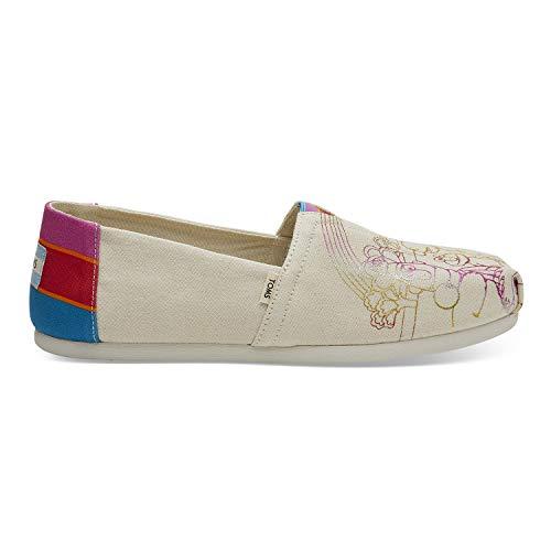 Street Fashion Shoes - TOMS Sesame Street X Vintage Crew Foil Printed Canvas Women's Classics 10013637 (Size: 7.5)