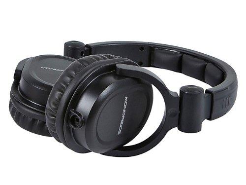 monoprice premium hi fi dj style over the ear pro headphones with mic comfortable padding. Black Bedroom Furniture Sets. Home Design Ideas