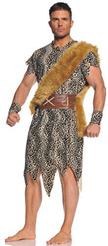 Jungle Man Costumes (Underwraps Men's Cave Dweller, Leopard/Brown/Tan, One Size)