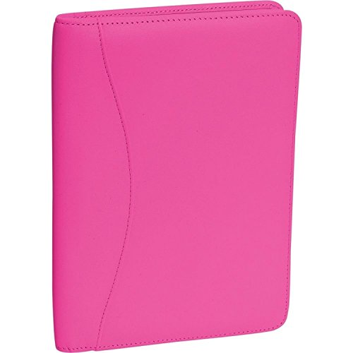 Ultra Suede Organizer - Royce Leather Ultra Bonded Leather Jr. Writing Padfolio (Wildberry)