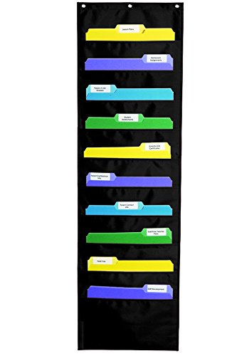 Carson Dellosa Storage Pocket Chart, Black (158573) (Carson Dellosa File Folder)