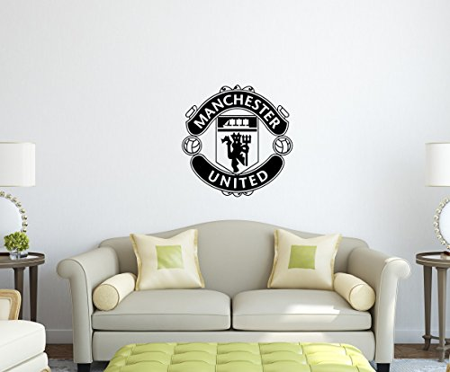 Vinyl Decal Mural Sticker Soccer Manchester United Garage Decor Sport Fans (Red)
