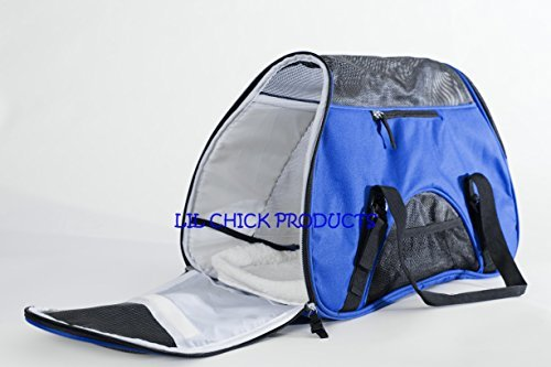 """LIL Chick Products (TM) Royal Blue Soft Sided Pet Carrier, """"FAA Airline Approved"""" Pet Travel Portable Bag Home, for Dogs, Cats and Puppies, 2018 Model"""