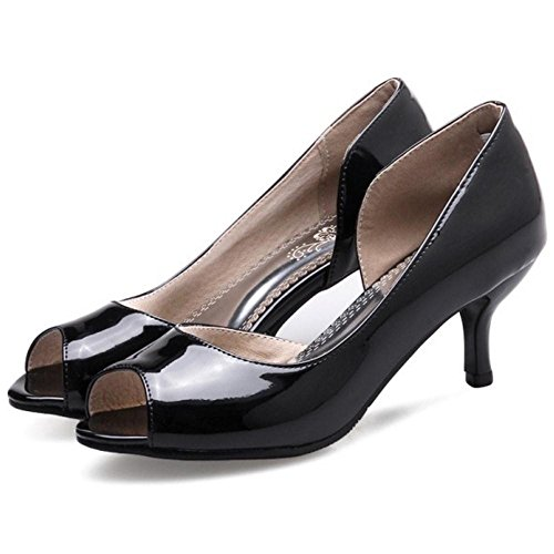 Court Black Peep Toe Women Coolcept Shoes UOqHF0