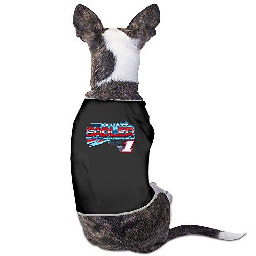Elliott Sadler Race Car Driver Black Dog Coats Classic Pet Clothing