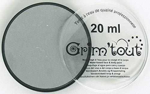 Grim Tout Face Paint, 20ml, Metallic Silver