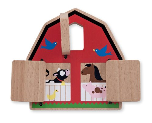 Melissa & Doug Peek-a-Boo Barn Wooden Baby and Toddler Toy