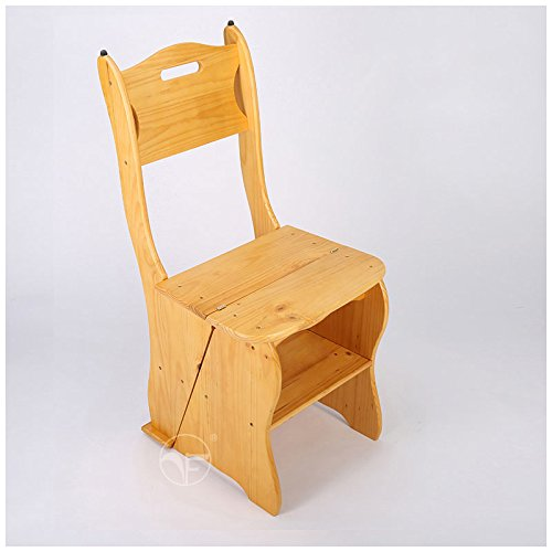 Mobile staircase stool, easy to install, simple and practical, beautiful fashion ( Color : Wood Color ) by Xin-stool