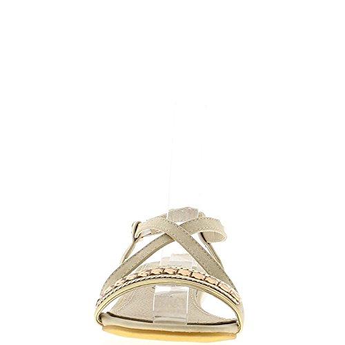 Sandalen mit cm Absatz grau Strass 5 kleinen 3 Sylver dicken HWPS5pq5w