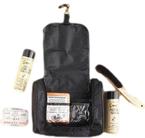 Scout Unisex Hat Care Travel Kit Black One (Scout Felt Hat)