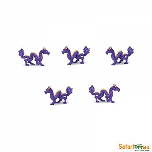 Chinese Good Luck Dragon (Safari LTD. Good Luck Mini Toys Purple Gold Chinese Dragons - Set of 10)