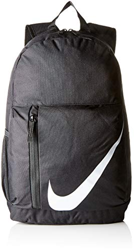- Nike Kids' Elemental Backpack, Kids' Backpack with Comfort and Secure Storage, Black/Black/White