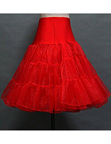 Stillluxury - Falda - enaguas - para mujer Rosso