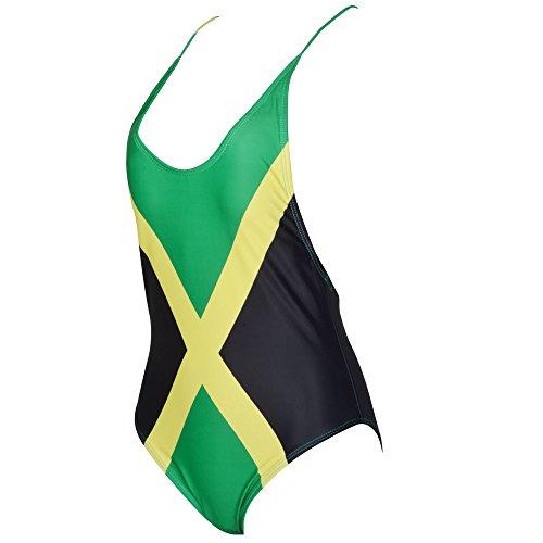 c42f85ddc23 VOARYISA Women's Fashion One Piece Caribbean Jamaica Flag Rasta Sport Monokini  Swimsuit Swimwear