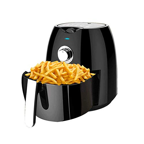 Daewoo Healthy Living Family 4.5L Oil Free 1300W Fast Frying Fryer with Rapid Air Flow Circulation, Non-Slip Feet and…
