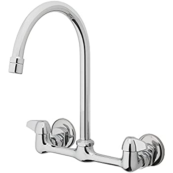 TOSCA 255-K820-T 2-Handle Wall-Mount Pull-Down Sprayer Kitchen ...
