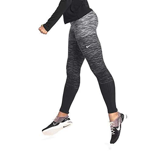 Nike Women's Pro Hyperwarm Fleece Printed Athletic Tights Leggings (X-Small Dark Grey/Black)