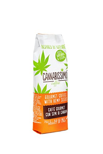 Cannabissimo. First healthy Italian coffee with protein rich hemp seeds. Enjoy Your daily coffee cups with the amazing healthy p