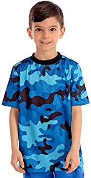KAAP Athletic Boy's Camo Short Sleeve Activewear T S