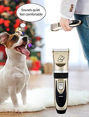 OMORC Cortapelos Perros, Set Máquina Cortar Pelo Profesional ...