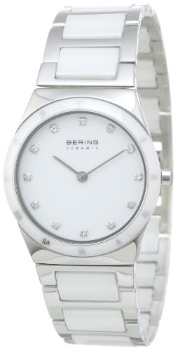 BERING Time 32230-764 Women's Ceramic Collection Watch with Ceramic Link Band and scratch resistant sapphire crystal. Designed in Denmark.