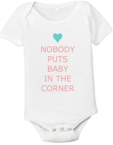 Nobody Puts Baby In The Corner One-Piece Baby Shirt (3-6 Months) Born Cotton Onesie