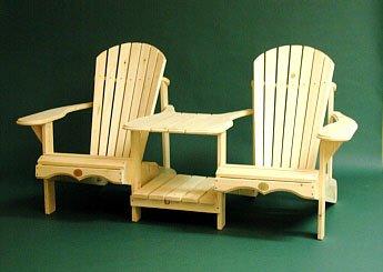 Bear Chair Tete a Tete Kit - Pine - Sanded Loveseat