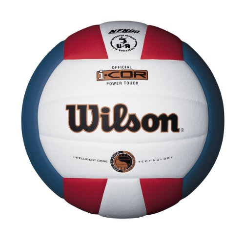 (Wilson I-COR Power Touch Indoor Volleyball (Red/White/Blue))