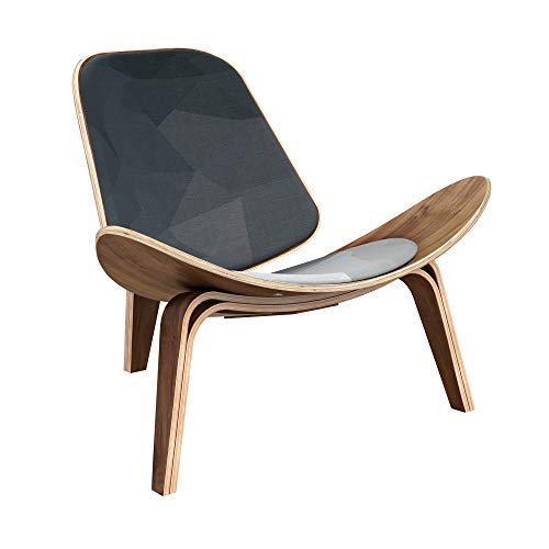 NyeKoncept 14000429 Midnight Topography Shell Chair, Walnut from NyeKoncept