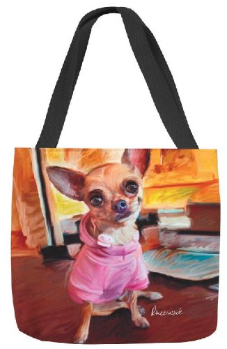 Manual 18-Inch Paws Whiskers Tote Bag, Chihuahua Bella