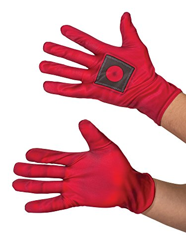 Rubie's Costume Co Men's Deadpool Costume Gloves, Red, One Size