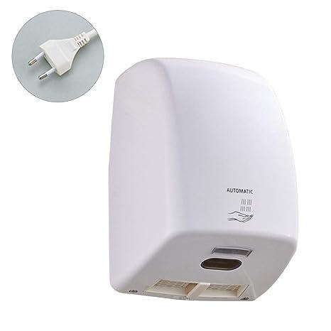 mollylover Secador de Manos, Secador de Manos eléctrico automático de Alta Velocidad, secador de