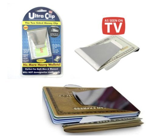 Ultra Clip Two Sided Money Clip As Seen On TV Credit Card Holder (Tv Tekno)
