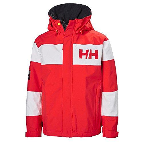 Helly Hansen Kids Salt Port Waterproof Quick Dry Lined Rain Jacket, Alert Red, Size 10 by Helly Hansen (Image #2)