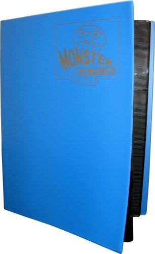 - Monster Protectors Card Supplies 9Pocket Matte Blue Binder
