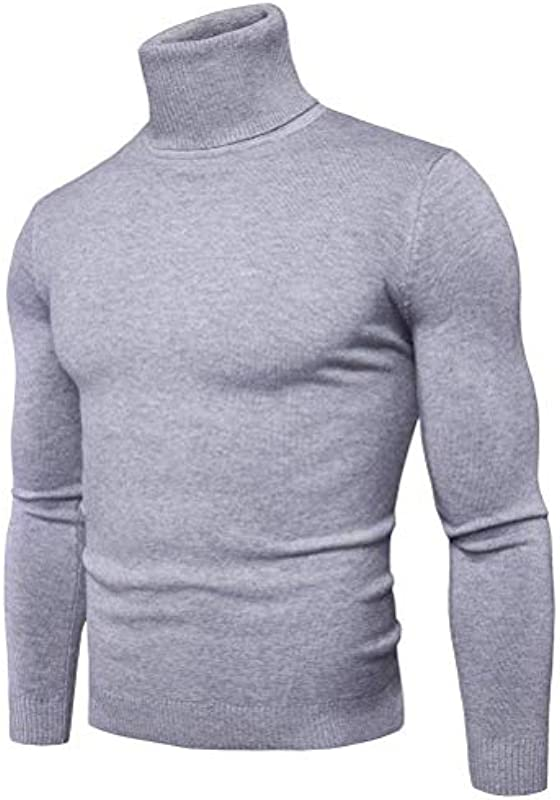 Męski kołnierz rolowany Casual Basic Slim Fit Elegancki normalny lakier z długim rękawem Wygodne rozmiary Mieszanka bawełny Pulower Solid Sweater Ubranie: Odzież